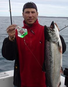 Catching Salmon with Dee's Diamond Flashers